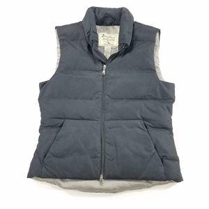 Eddie Bauer Zip Up Goose Down Puffer Vest Jacket